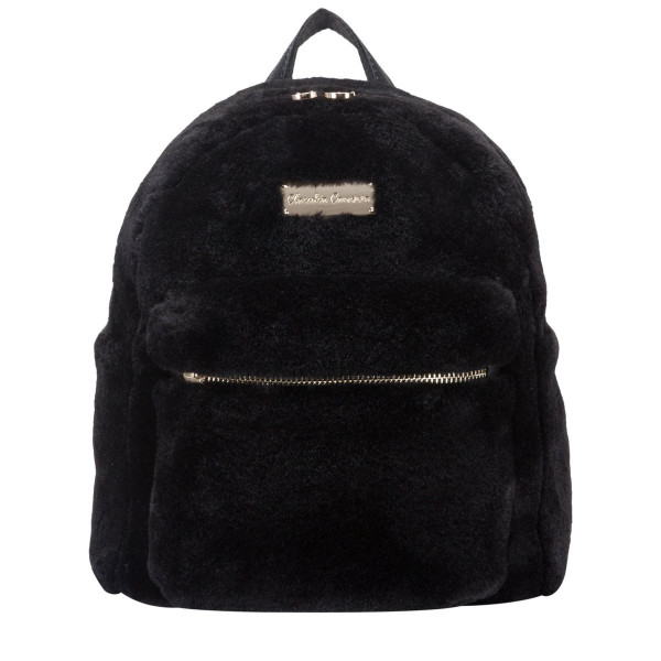 Faux Fur Zip Fastening Pocketed Backpack