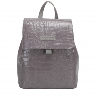 Beth Flap Over Croc Effect Backpack