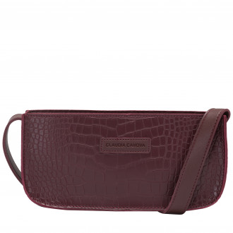 Marisa Croc Print Baguette Shoulder Bag