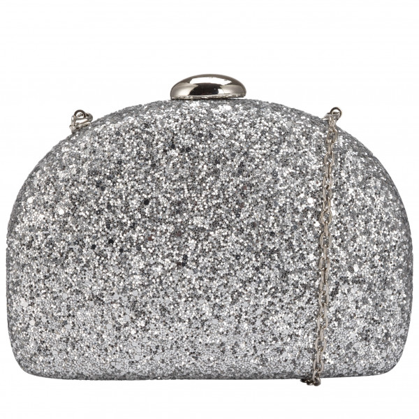 Rounded Hardcase Clasp Top Clutch