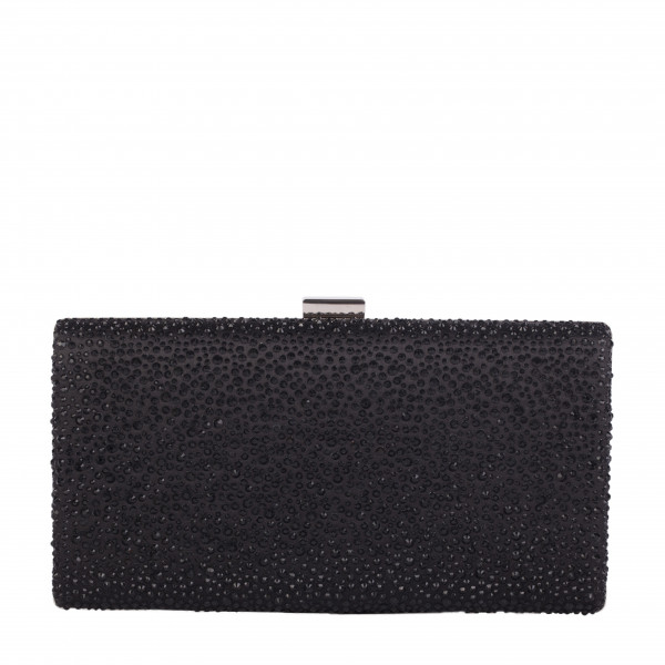 Rectangular Stud Detailed Clasp Clutch